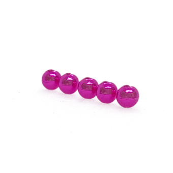 Slotted Tungsten Beads: Metallic Pink